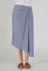 Stripe Draped Asymmetrical Skirt detail