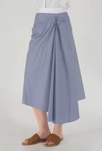 Load image into Gallery viewer, Stripe Draped Asymmetrical Skirt side