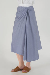 Stripe Draped Asymmetrical Skirt side
