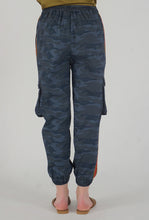 Load image into Gallery viewer, Teal Camouflaged Stripe Jogger Pants back