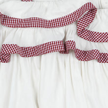 Load image into Gallery viewer, White Red Gingham Layered Kidswear Dress