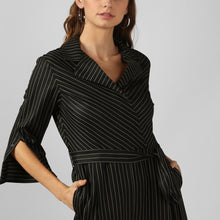 Load image into Gallery viewer, Stripe Charcoal Black Jumpsuit
