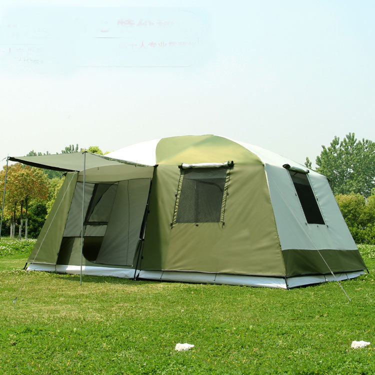 Two Bedrooms & One Living Room 10 Persons Family Tent