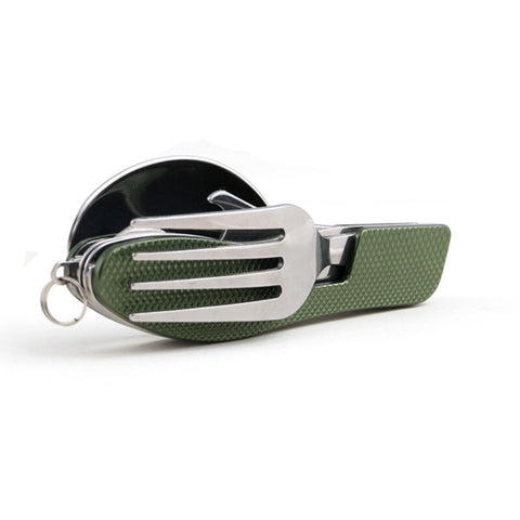 Multi Color Stainless Steel Portable Folding Spoon & Fork