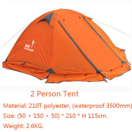 Sleek Tent For 2 Persons 3 Double Layer Windproof Waterproof Winter proof
