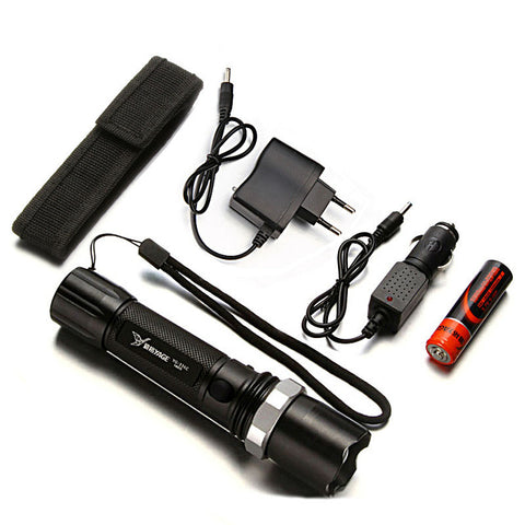 BEST SELLING Rechargeable Zoomable Flashlight Lithium-Ion Battery