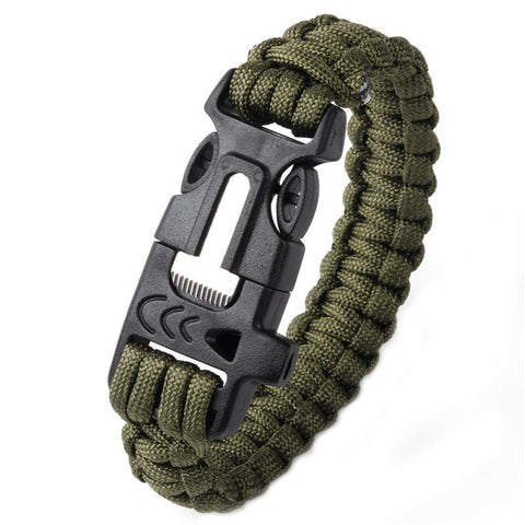 Hiking Climbing Paracord Braided Rope Bracelet