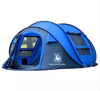 Polyester Fully Automated Camping Tent For 5-6 Persons