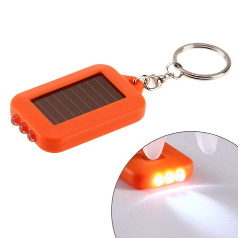 Multi functional Solar Powered Mini Key Chain Light