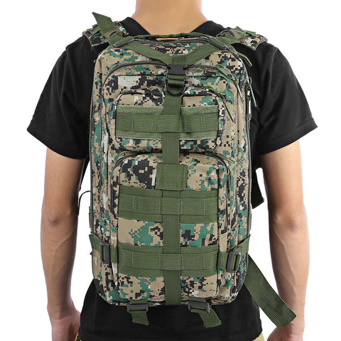 Heavy Tactical Backpack For Camping Hiking Camouflage Edition