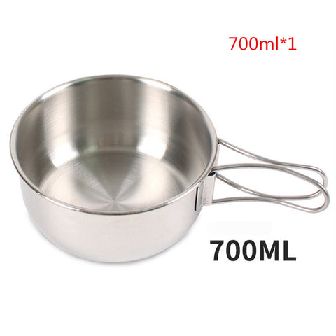 Stainless Steel Tableware Set Folding Bowl Cooking Set