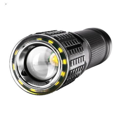 Black Rechargeable Tactical USB LED Flashlight