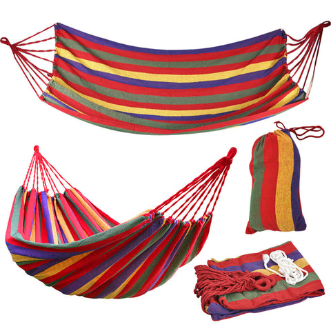 Multi Color Single Person Sun Shelter Hanging Hammock