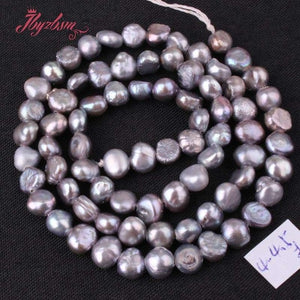 "3-4.5mm Irregular Freshwater Pearl Natural Stone Beads For DIY Necklace Bracelets Earring Jewelry Making 14.5"" Free Shipping"