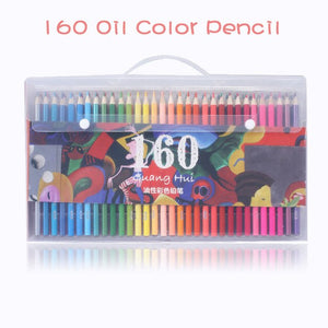 120 or 160 Piece Professional Oil Pastel Pencil Set  / Safe Non-toxic Oil Color Pencils for Drawing, Sketching - Art Supplies