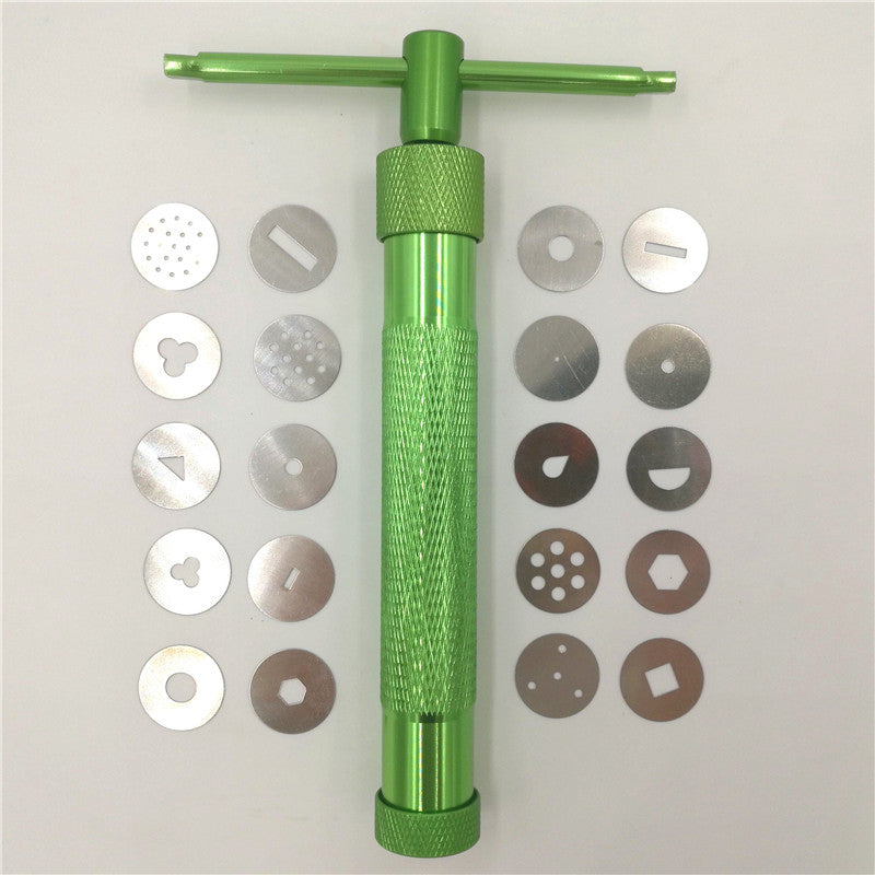 19 Discs Pottery Clay Extruder / Cake Decoration Craft - Modeling Tool High Quality