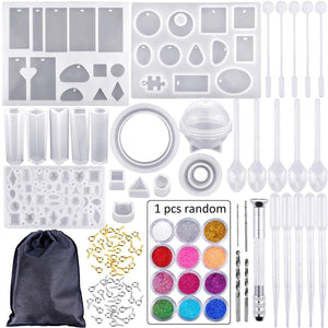 83 Piece Set - Silicone Casting Molds And Tools Set With Black Storage Bag For Jewellery Making / Arts & Crafts