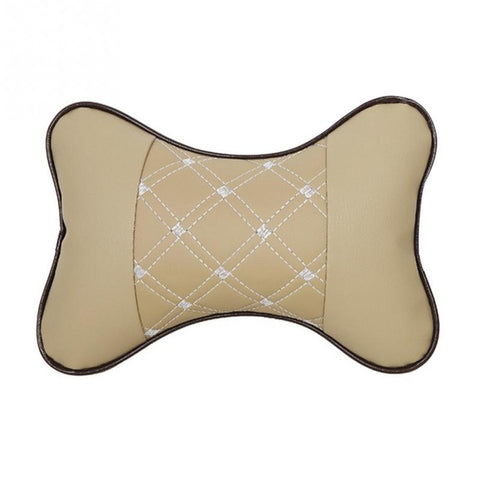 Car Neck Pillow PU Leather - IgrairDeals