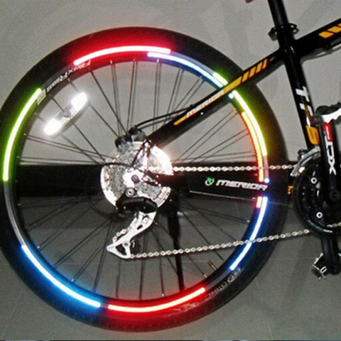 Bike Wheel Rim Reflective Stickers - IgrairDeals