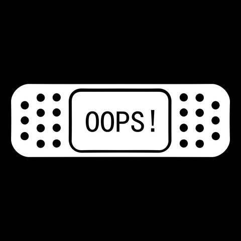 OOPS! BAND AID Car Bumper Stickers - IgrairDeals