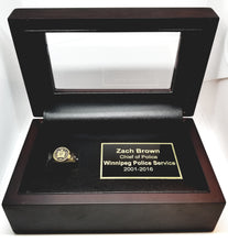 Mahogany Finish Display Case with Custom Engraving