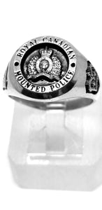 RCMP XL Style Sterling Silver Ring