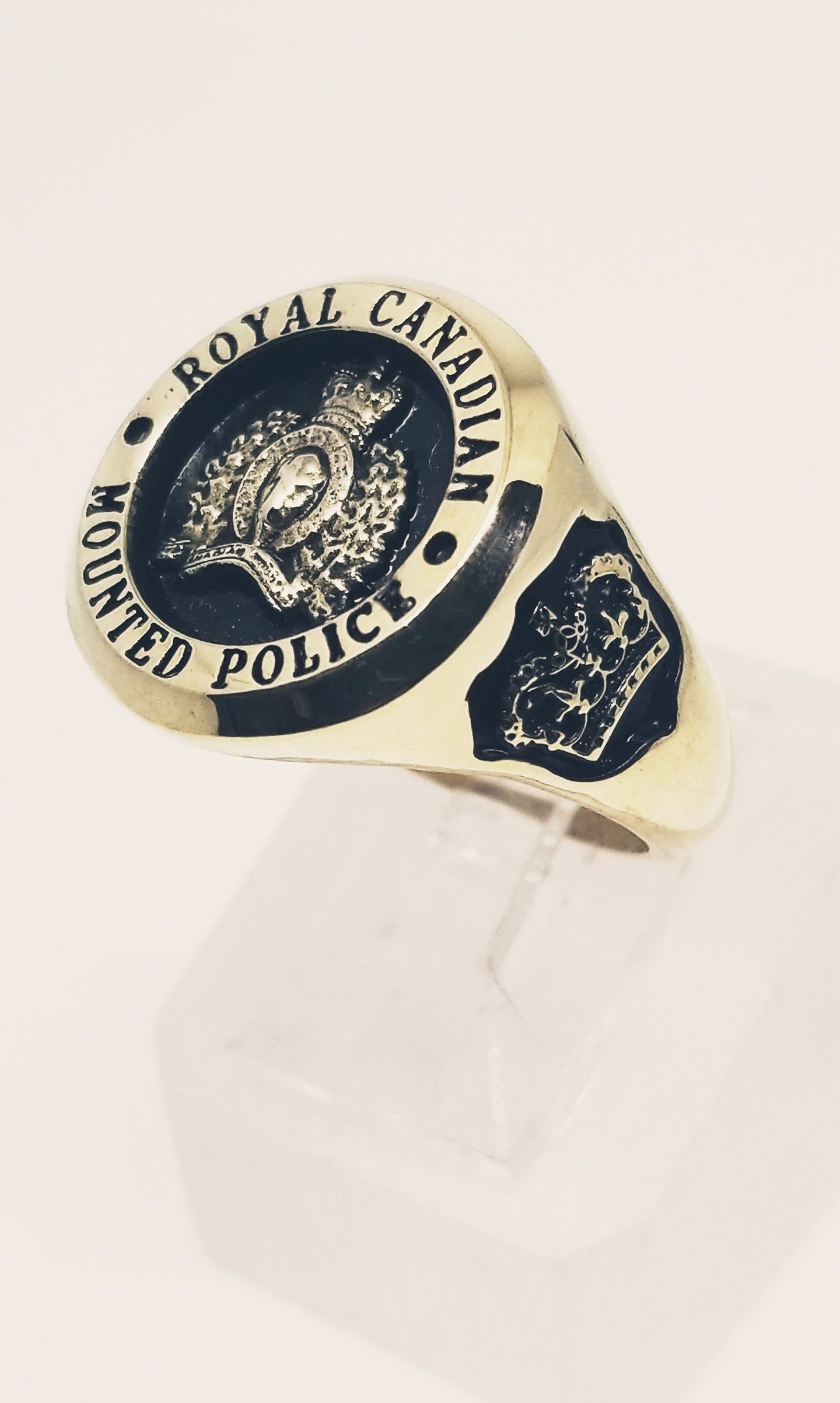 RCMP XL Style Yellow Gold Ring