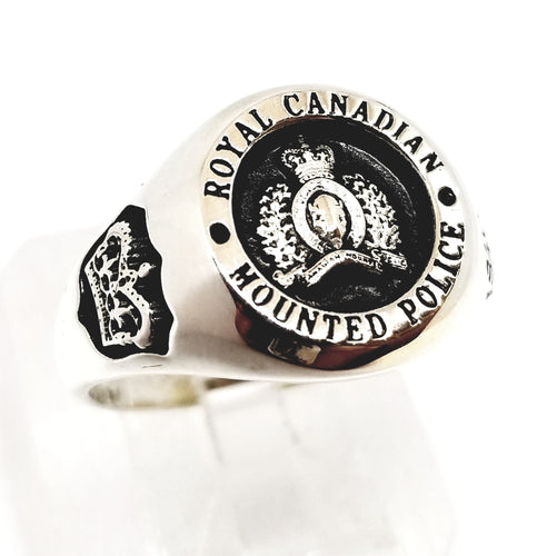 RCMP Large Style Yellow Gold Ring