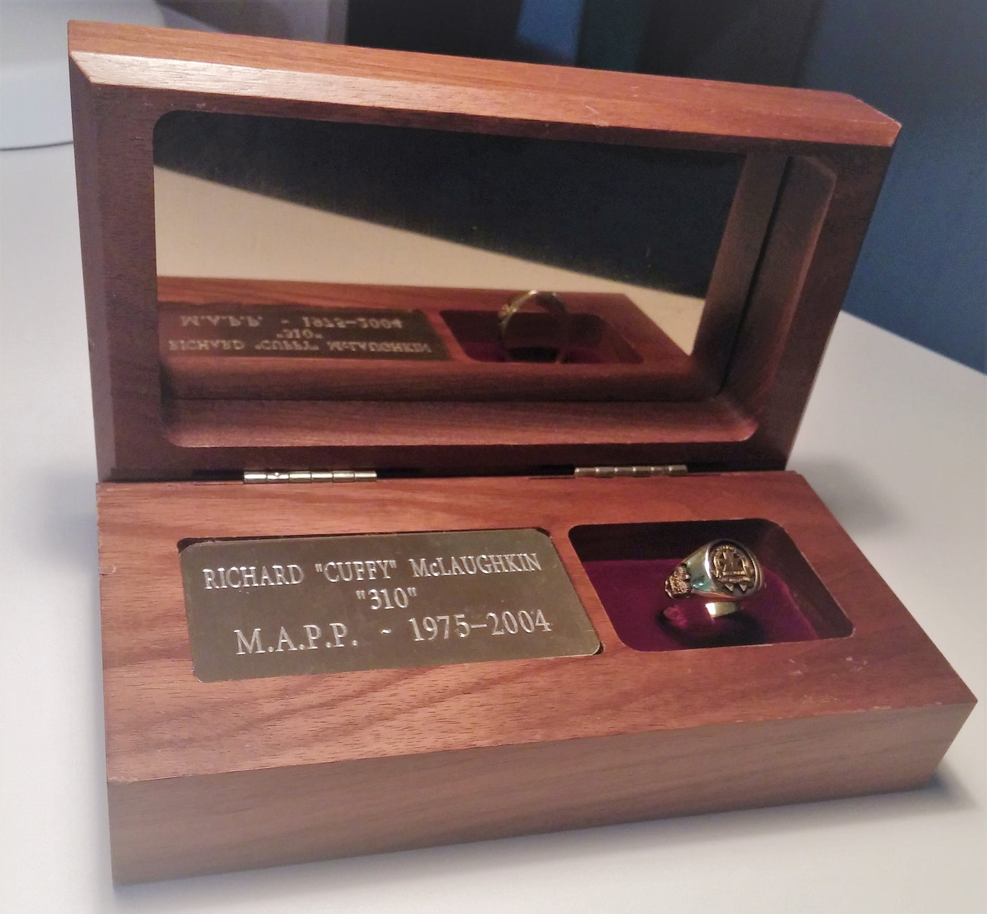 Walnut Display Case with Custom Engraving