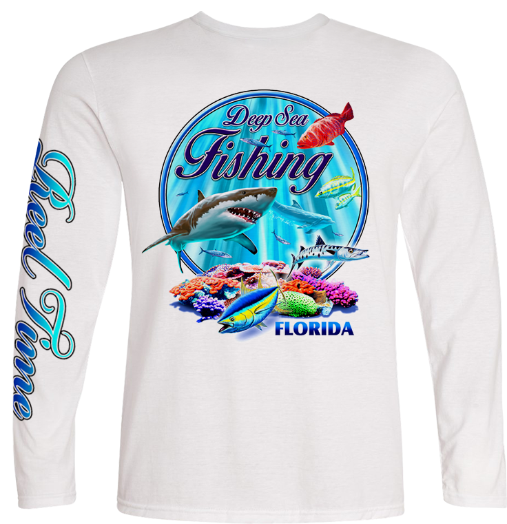 Deep Fishing (Unisex) - - Unisex Tees | Long Sleeves