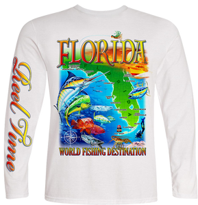 Florida Map (Unisex) - - Unisex Tees | Long Sleeves