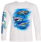 Three Sharks (Unisex) - - Unisex Tees | Long Sleeves