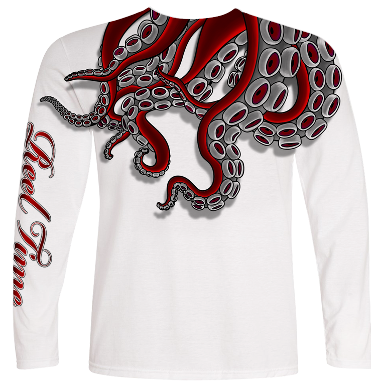 Red Octopus (Kids) - - Kids Tees | Long Sleeves