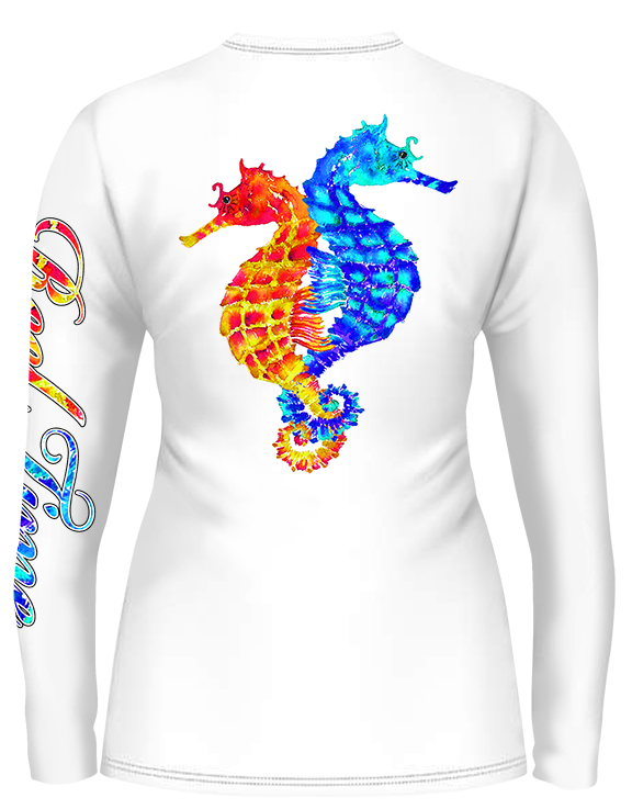 Seahorse Love Scoop Neck (Ladies) - - Ladies Tees | Long Sleeves