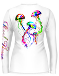 Neon Jellyfish Scoop Neck (Ladies) - - Ladies Tees | Long Sleeves