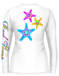 Tie-Dye Starfish Scoop Neck (Ladies) - - Ladies Tees | Long Sleeves