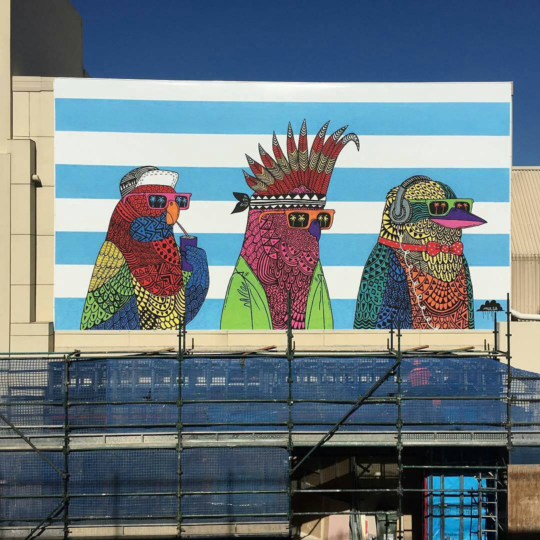 Three Rad Birds, Broadway Shopping Centre, NSW.