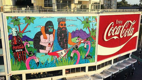 Cocacola X Mulga Kings Cross Mural