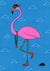 Frederick the Flamingo - Paper Print