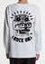 Rodney the Rocker Skull - Kids Long Sleeve Tee - White