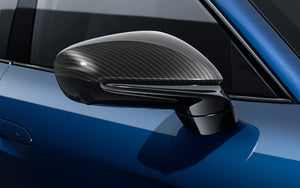 Exterior mirror upper trims made from Carbon