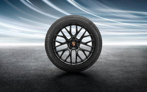 "20"" RS Spyder Design Winter Wheel and Tire Set Painted in Black - 95B"