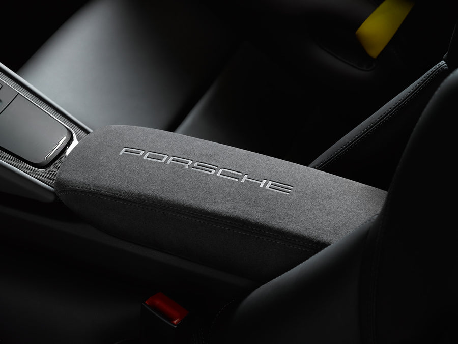 "Storage bin Alcantara® with ""PORSCHE"" logo"