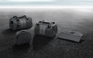 Leather luggage set