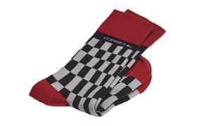 944 Unisex Socks, Gray/Red Black - #Porsche