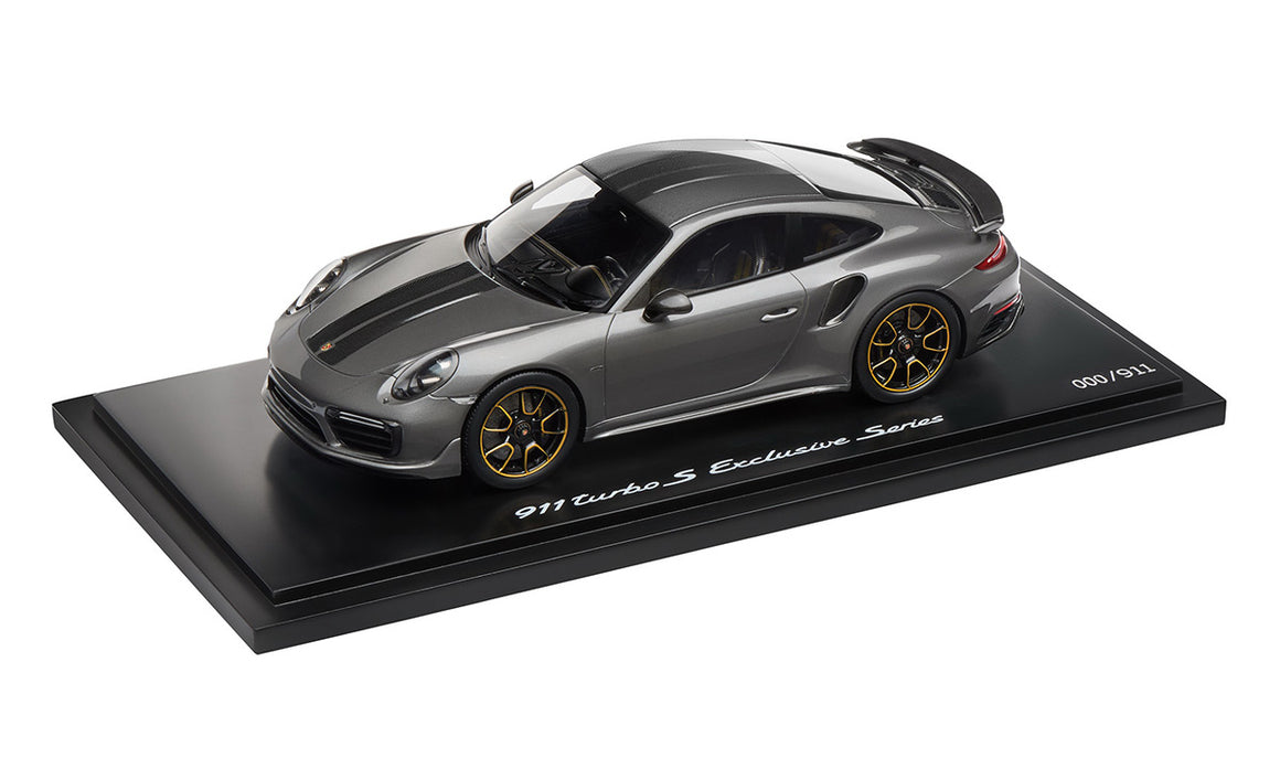 911 Turbo S Exclusive Series – Limited Edition; Agate Grey Metallic; 1:18