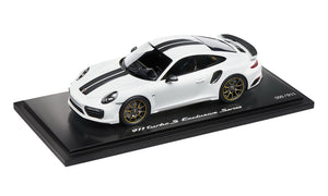 911 Turbo S Exclusive Series – Limited Edition; carrara White Metallic; 1:18