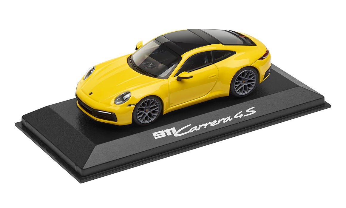 911 (992) C4S Coupé, racing yellow, 1:43