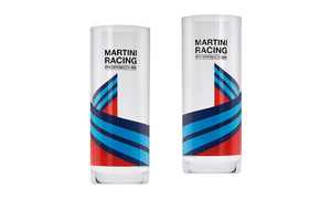 MARTINI RACING Longdrink Glasses, Set of 2, Blue / Red / Black