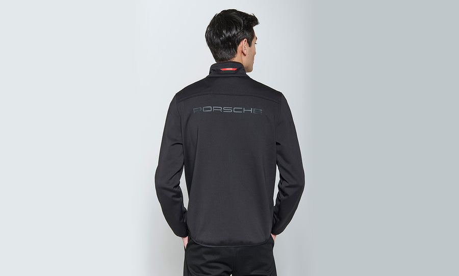 Men's Black softshell jacket Motorsports Collection, Fanwear